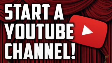 start a youtube ahannel