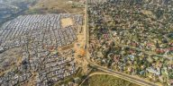 drone footage south africa poverty