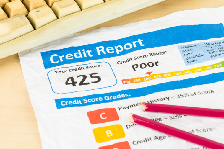 what is considered bad credit