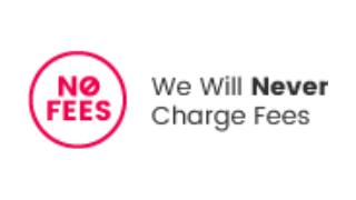 We will never charge any fees!